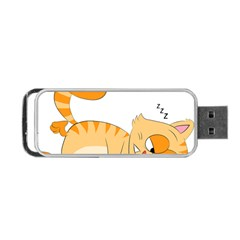 Even Cat Hates Monday Portable Usb Flash (one Side) by Catifornia