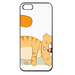 Even Cat Hates Monday Apple Iphone 5 Seamless Case (black) by Catifornia