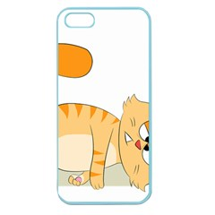 Even Cat Hates Monday Apple Seamless Iphone 5 Case (color) by Catifornia