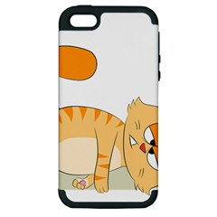 Even Cat Hates Monday Apple Iphone 5 Hardshell Case (pc+silicone) by Catifornia