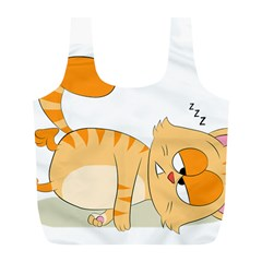 Even Cat Hates Monday Full Print Recycle Bags (l)  by Catifornia