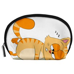 Even Cat Hates Monday Accessory Pouches (large)  by Catifornia