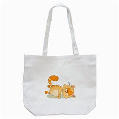Even Cat Hates Monday Tote Bag (white) by Catifornia