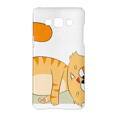 Even Cat Hates Monday Samsung Galaxy A5 Hardshell Case  by Catifornia