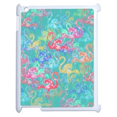 Flamingo Pattern Apple Ipad 2 Case (white) by Valentinaart