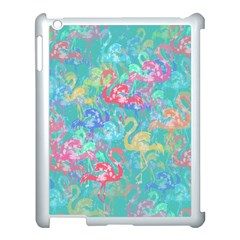 Flamingo Pattern Apple Ipad 3/4 Case (white) by Valentinaart