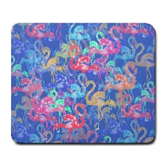 Flamingo Pattern Large Mousepads by Valentinaart