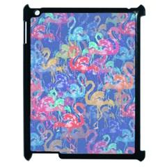 Flamingo Pattern Apple Ipad 2 Case (black) by Valentinaart