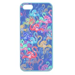 Flamingo Pattern Apple Seamless Iphone 5 Case (color) by Valentinaart