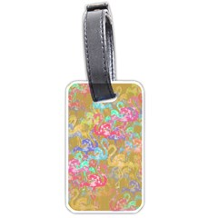 Flamingo Pattern Luggage Tags (one Side)  by Valentinaart