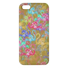 Flamingo Pattern Apple Iphone 5 Premium Hardshell Case by Valentinaart
