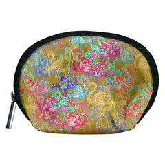Flamingo Pattern Accessory Pouches (medium)  by Valentinaart