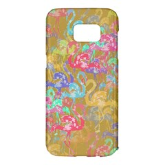 Flamingo Pattern Samsung Galaxy S7 Edge Hardshell Case by Valentinaart