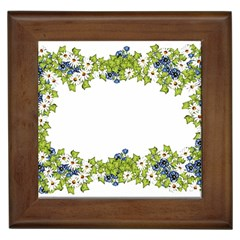 Birthday Card Flowers Daisies Ivy Framed Tiles