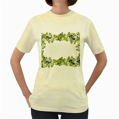 Birthday Card Flowers Daisies Ivy Women s Yellow T Shirt