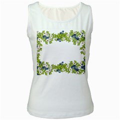 Birthday Card Flowers Daisies Ivy Women s White Tank Top