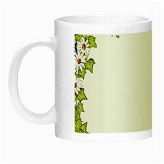 Birthday Card Flowers Daisies Ivy Night Luminous Mugs