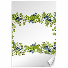 Birthday Card Flowers Daisies Ivy Canvas 24  X 36