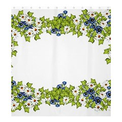 Birthday Card Flowers Daisies Ivy Shower Curtain 66  X 72  (large)  by Nexatart