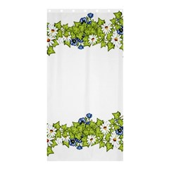 Birthday Card Flowers Daisies Ivy Shower Curtain 36  X 72  (stall)  by Nexatart