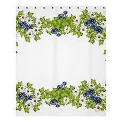 Birthday Card Flowers Daisies Ivy Shower Curtain 60  X 72  (medium)