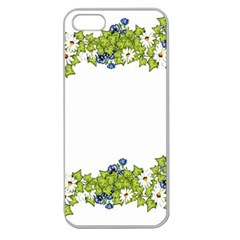 Birthday Card Flowers Daisies Ivy Apple Seamless Iphone 5 Case (clear) by Nexatart
