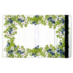 Birthday Card Flowers Daisies Ivy Apple Ipad 3/4 Flip Case by Nexatart