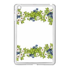Birthday Card Flowers Daisies Ivy Apple Ipad Mini Case (white) by Nexatart