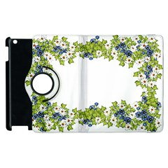 Birthday Card Flowers Daisies Ivy Apple Ipad 2 Flip 360 Case by Nexatart