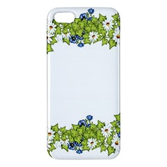 Birthday Card Flowers Daisies Ivy Apple Iphone 5 Premium Hardshell Case