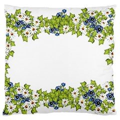 Birthday Card Flowers Daisies Ivy Standard Flano Cushion Case (one Side) by Nexatart