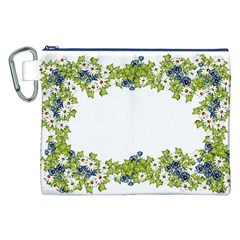 Birthday Card Flowers Daisies Ivy Canvas Cosmetic Bag (xxl) by Nexatart