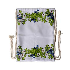 Birthday Card Flowers Daisies Ivy Drawstring Bag (small)