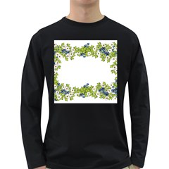 Birthday Card Flowers Daisies Ivy Long Sleeve Dark T Shirts