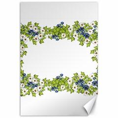 Birthday Card Flowers Daisies Ivy Canvas 12  X 18