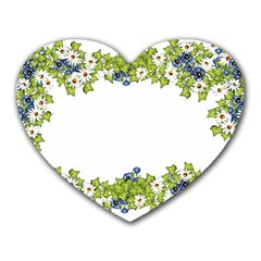 Birthday Card Flowers Daisies Ivy Heart Mousepads