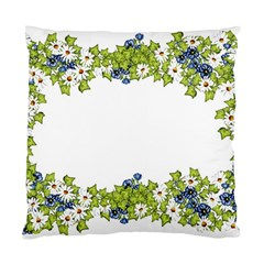 Birthday Card Flowers Daisies Ivy Standard Cushion Case (two Sides) by Nexatart