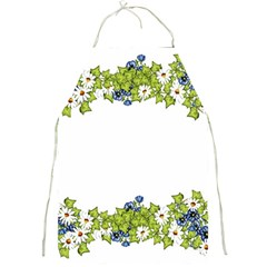 Birthday Card Flowers Daisies Ivy Full Print Aprons