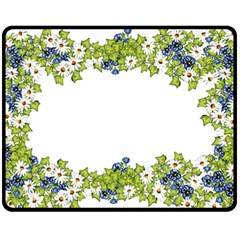 Birthday Card Flowers Daisies Ivy Fleece Blanket (medium)  by Nexatart