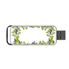 Birthday Card Flowers Daisies Ivy Portable Usb Flash (one Side) by Nexatart