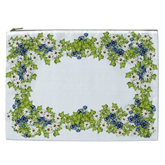 Birthday Card Flowers Daisies Ivy Cosmetic Bag (xxl)  by Nexatart