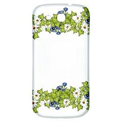 Birthday Card Flowers Daisies Ivy Samsung Galaxy S3 S Iii Classic Hardshell Back Case by Nexatart