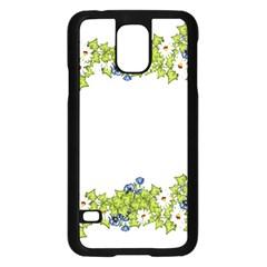 Birthday Card Flowers Daisies Ivy Samsung Galaxy S5 Case (black) by Nexatart