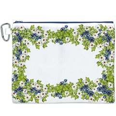 Birthday Card Flowers Daisies Ivy Canvas Cosmetic Bag (xxxl) by Nexatart