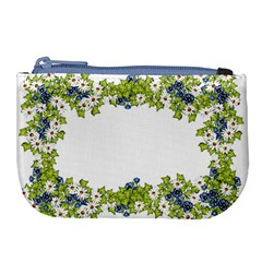 Birthday Card Flowers Daisies Ivy Large Coin Purse