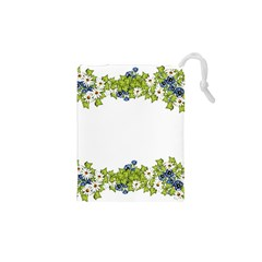 Birthday Card Flowers Daisies Ivy Drawstring Pouches (xs)