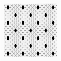 Black White Hexagon Dots Medium Glasses Cloth by Mariart