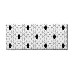 Black White Hexagon Dots Cosmetic Storage Cases by Mariart