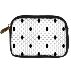 Black White Hexagon Dots Digital Camera Cases by Mariart