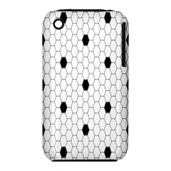 Black White Hexagon Dots Iphone 3s/3gs by Mariart